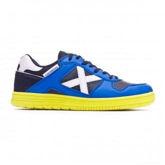 Chaussure de futsal Munich Continental V2 Bleu-Bleu marine-Vert