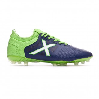Football Boots Munich Tiga Navy blue-Verde flúor