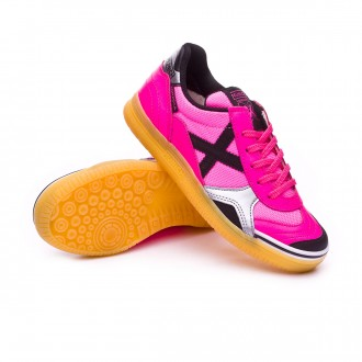 Futsal Boot  Munich Kids Gresca  Fuchsia-Black