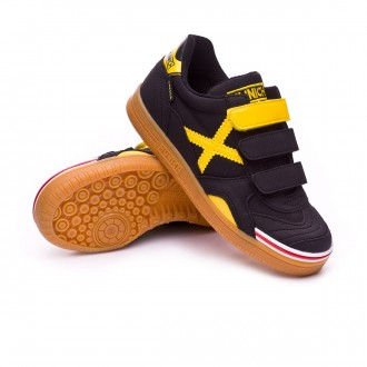 Futsal Boot  Munich Kids Gresca Velcro Black-Yellow
