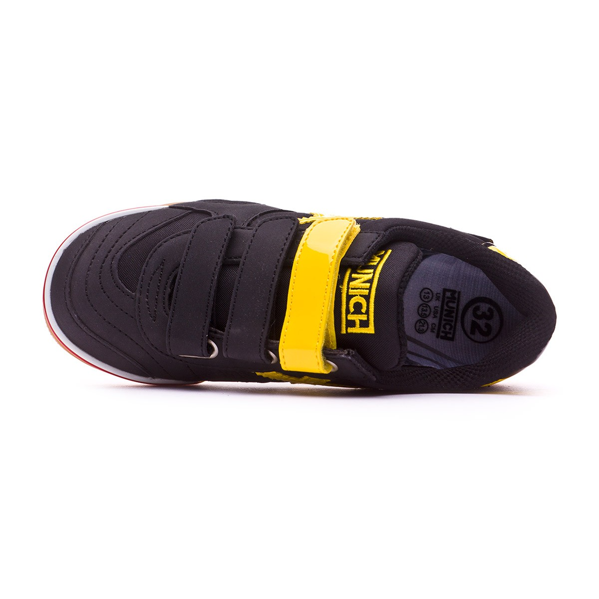 f1c43595884 Futsal Boot Munich Kids Gresca Velcro Black-Yellow - Football store Fútbol  Emotion