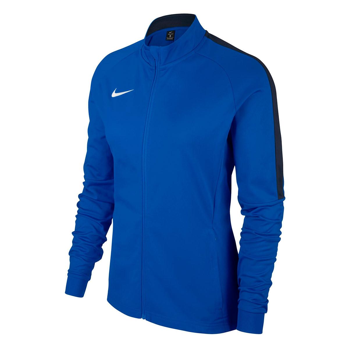 Lesionarse fotografía fuego  Jacket Nike Woman Academy 18 Knit Royal blue-Obsidian-White - Football  store Fútbol Emotion