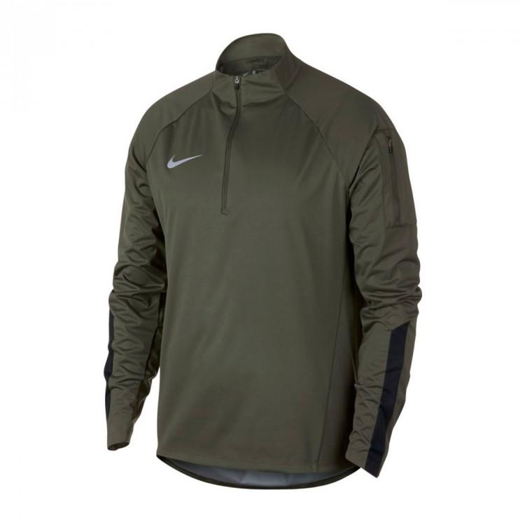 novedad si puedes Partido  Jacket Nike Shield Squad HDY PZ Drill Top Cargo khaki-Black - Football  store Fútbol Emotion