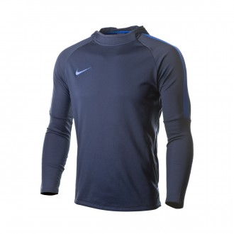 Sweatshirt  Nike Dry Academy Hoodie Obsidian-Hyper royal