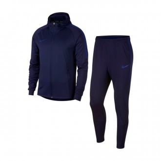 Tracksuit  Nike Dry Squad Blackened blue-Deep royal blue