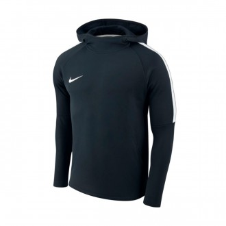 Sweatshirt  Nike Dry Academy Hoodie Obsidian-White