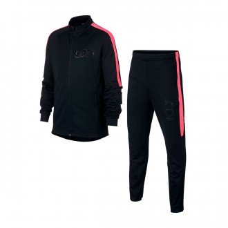 Tracksuit  Nike Kids Dry CR7  Black-Hot punch