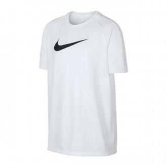 Camisola Nike Dry Academy Top SS GX2 Niño White-Black