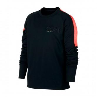 Sweatshirt  Nike Dry CR7 Crew Niño Black-Hot punch