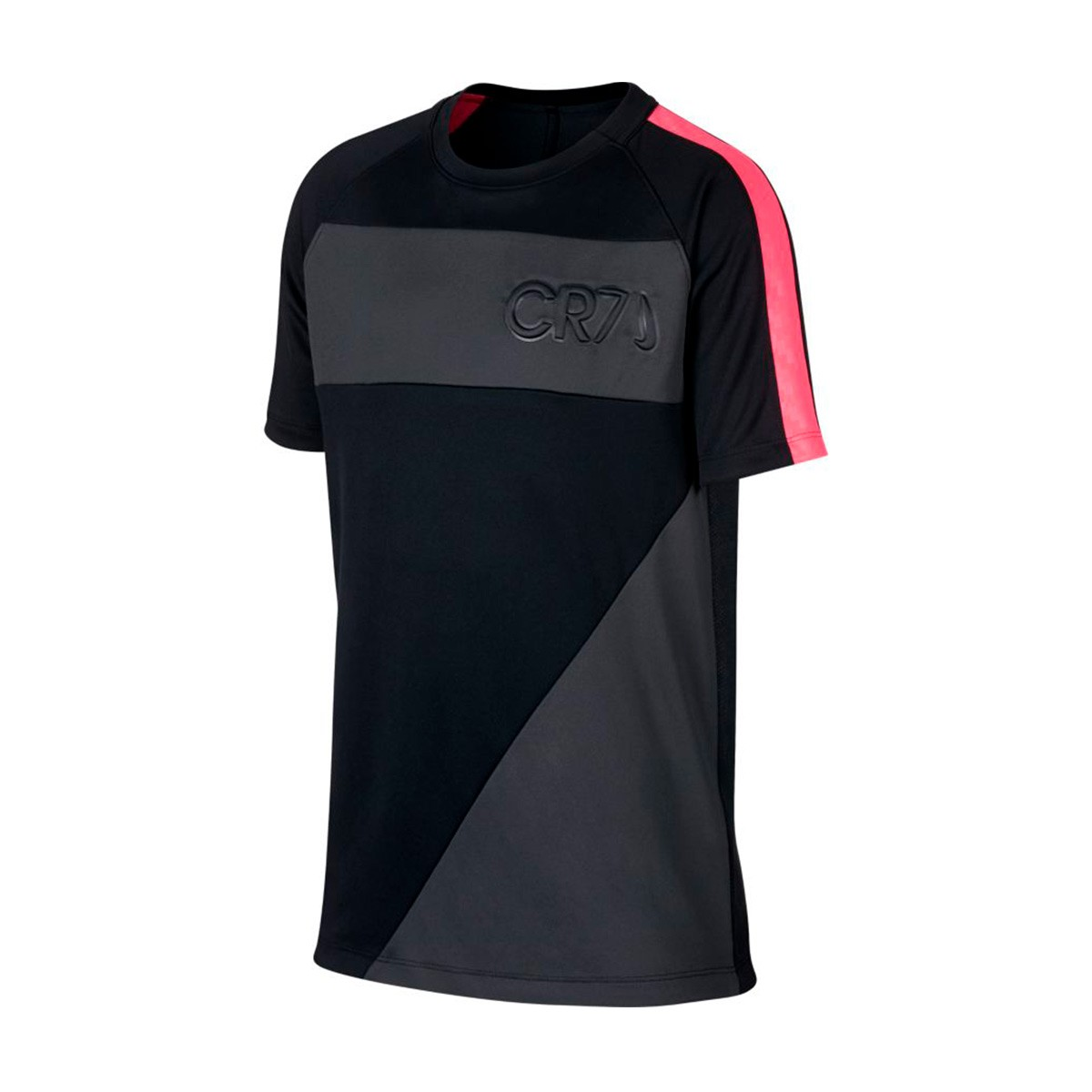 timeless design 345df 5486a Camiseta Dry CR7 Niño Black-Anthracite-Hot punch