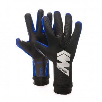 Glove  Nike Mercurial Touch Elite Black-Metallic silver-Racer blue