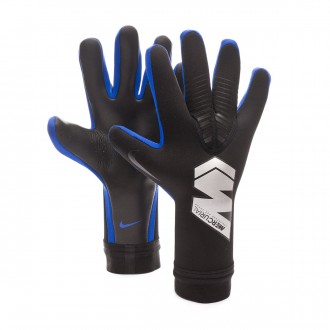 Glove  Nike Mercurial Touch Pro Black-Metallic silver-Racer blue