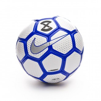 Ball  Nike PremierX Football White-Racer blue-Metallic silver