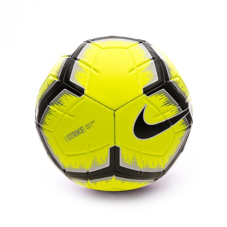02010a8f7b1fa Bola de Futebol Nike Strike 2018-2019 Volt-Metallic silver-Black ...