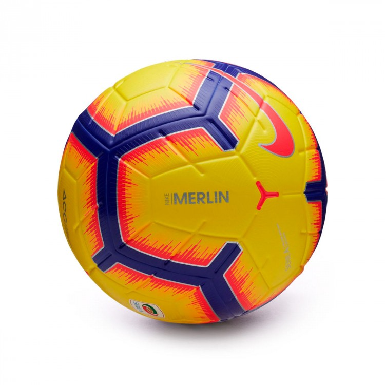 Ball Nike Serie A Merlin 2018-2019 Yellow-Purple-Flash crimson ... 43f363ab0627f