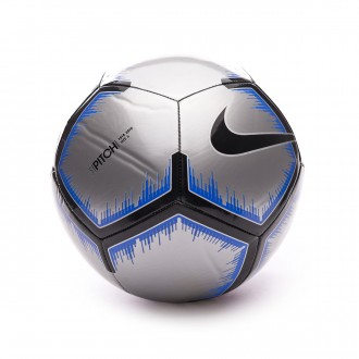 Ball  Nike Pitch 2018-2019 Metallic silver-Black-Racer blue