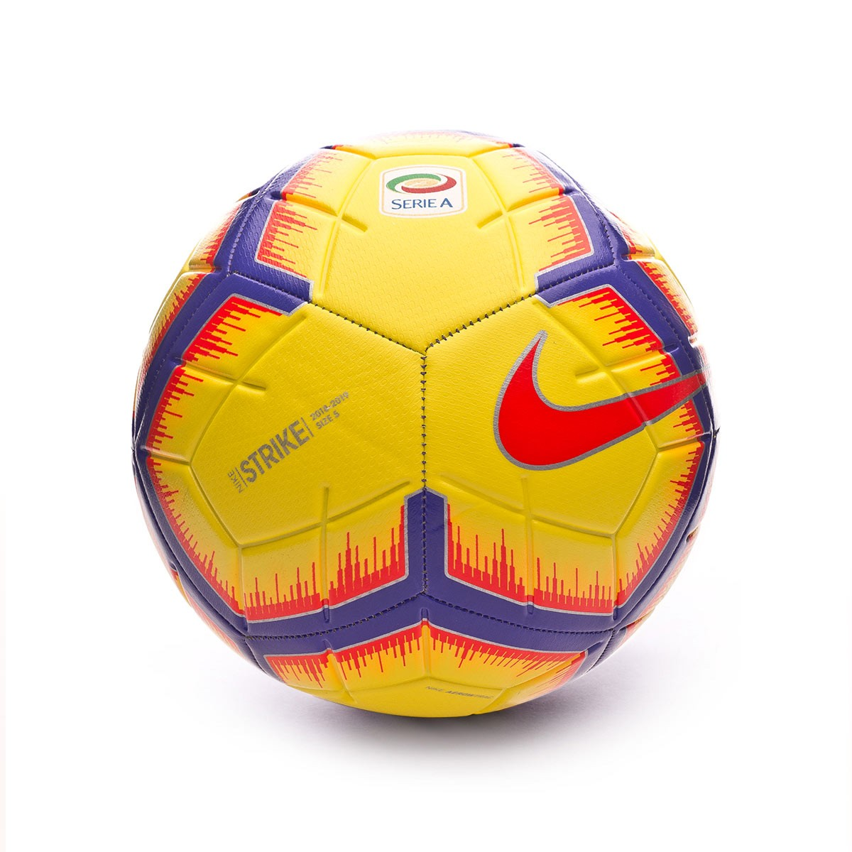 495604653 Ball Nike Serie A Strike 2018-2019 Yellow-Purple-Flash crimson - Football  store Fútbol Emotion