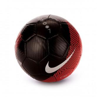 Ball  Nike Mini CR7 Skills 2018-2019 Black-Flash crimson-Silver