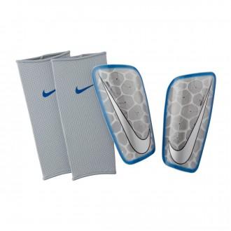 Shinpads  Nike Mercurial Lite SuperLock Metallic silver