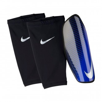 Espinillera  Nike Attack CF Elite Black-Racer blue-Metallic silver
