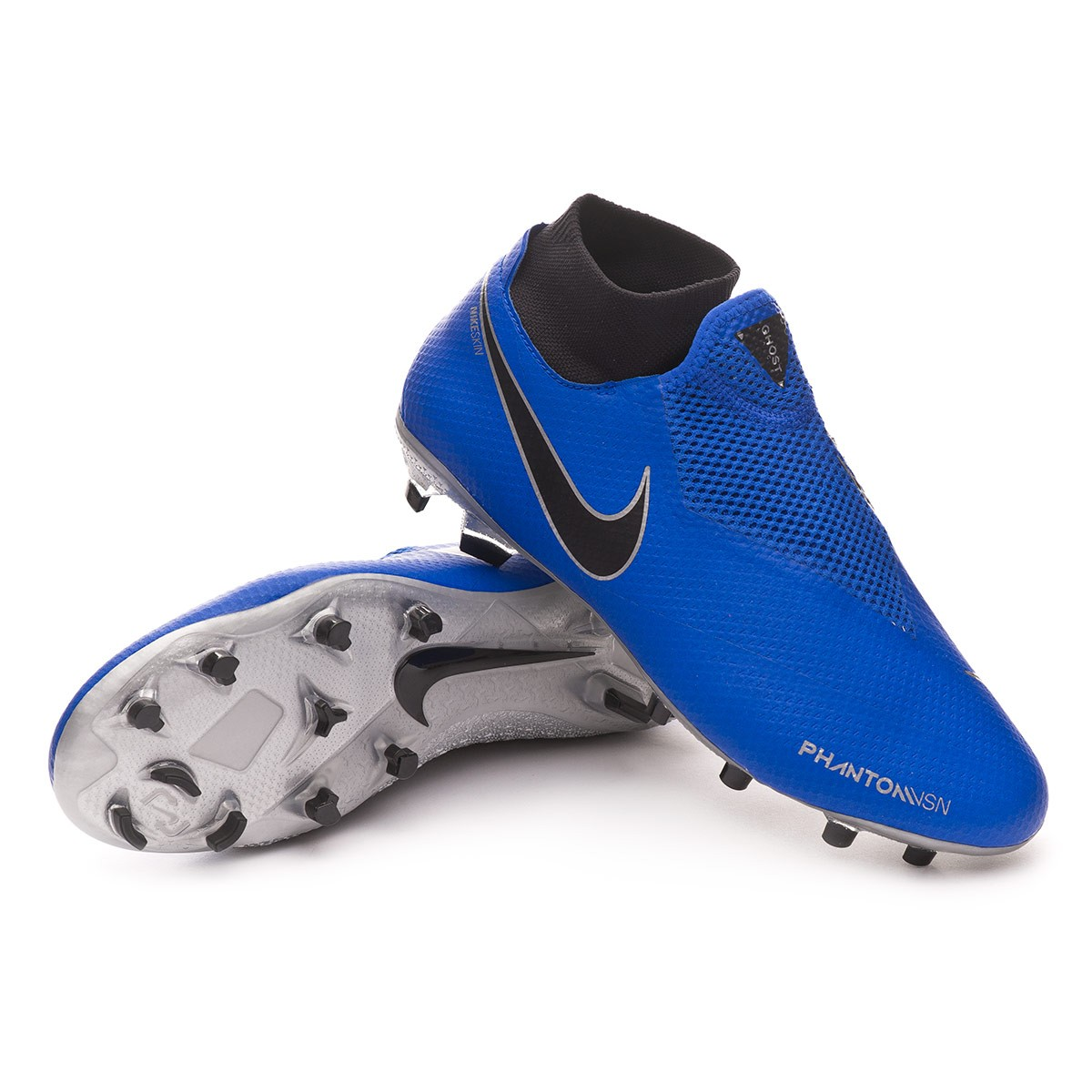 Scarpe Nike Phantom Vision Pro DF FG Racer blue,Black,Metallic silver,Volt  , Negozio di calcio Fútbol Emotion