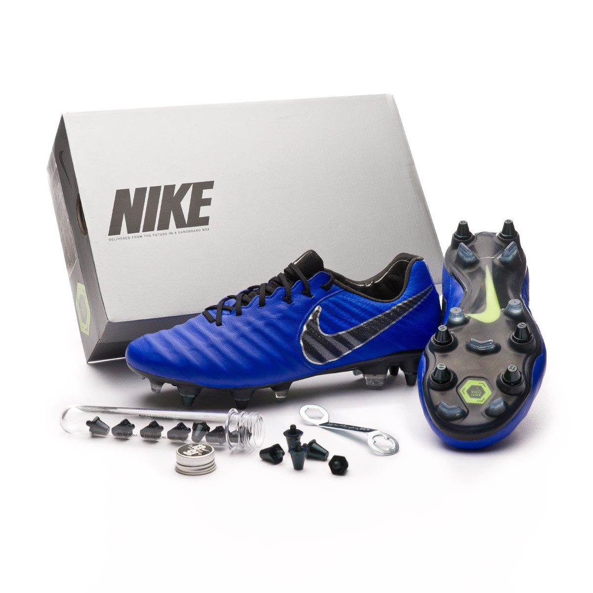 new arrival a81df 52c4c Nike Tiempo Legend VII Elite Anti-Clog SG-Pro Boot. Racer blue-Black- Metallic ...