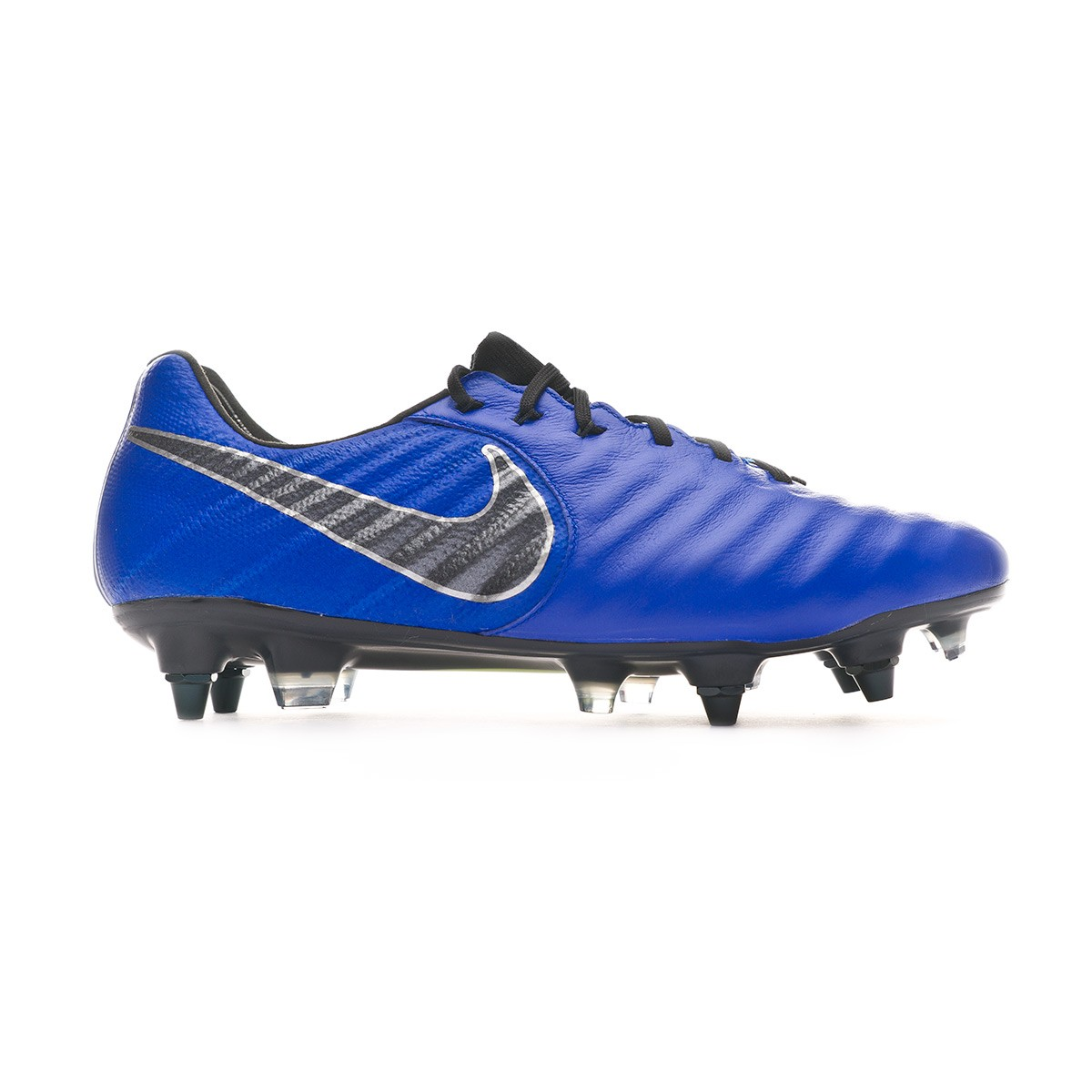promo code 162a2 036a1 Chaussure de foot Nike Tiempo Legend VII Elite Anti-Clog SG-Pro Racer blue- Black-Metallic silver - Boutique de football Fútbol Emotion