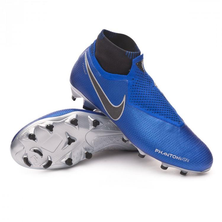 Boot Nike Phantom Vision Elite DF FG Racer blue-Black-Metallic ... 6418733c5c