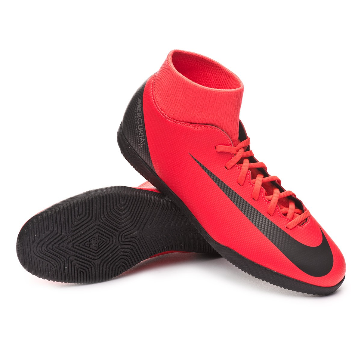 Zapatilla Mercurial SuperflyX VI Club CR7 IC Bright crimson Black Chrome