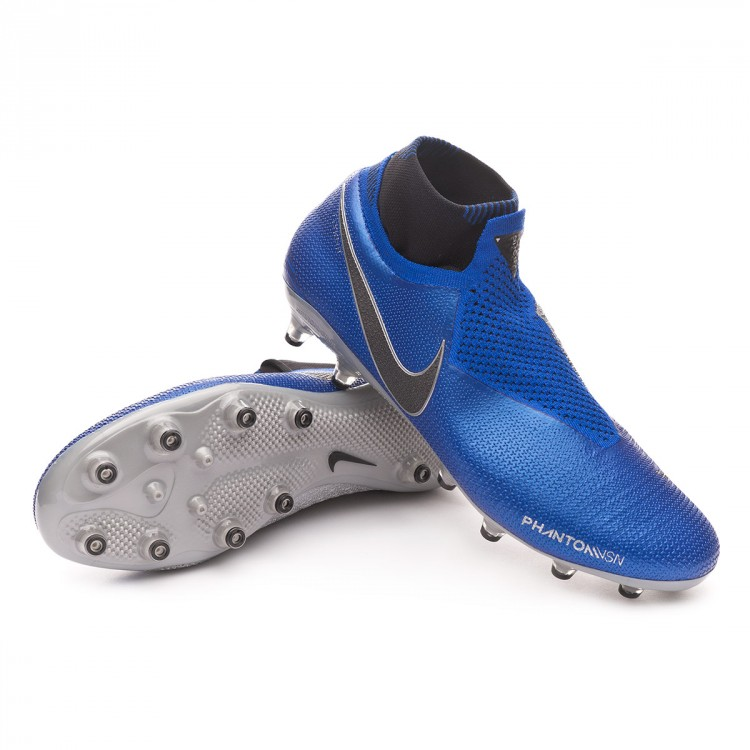 Normalmente Analítico Notorio  Football Boots Nike Phantom Vision Elite DF AG-Pro Racer  blue-Black-Metallic silver-Volt - Football store Fútbol Emotion