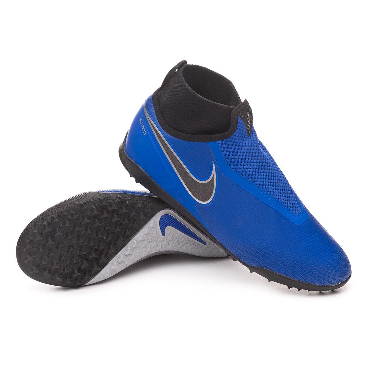 d5936d46bc1e Football Boot Nike React Phantom Vision Pro DF Turf Racer blue-Black ...