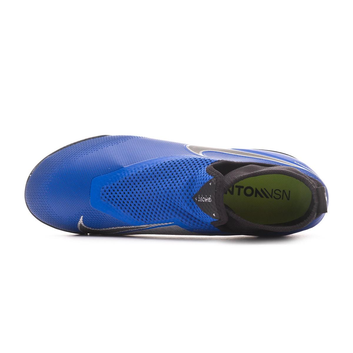 b0652544ae4f Football Boot Nike React Phantom Vision Pro DF Turf Racer  blue-Black-Metallic silver-Volt - Tienda de fútbol Fútbol Emotion