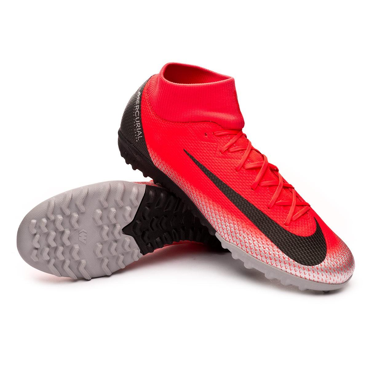 3485ab2b5 Football Boot Nike Mercurial SuperflyX VI Academy CR7 Turf Bright crimson- Black-Chrome-Dark grey - Tienda de fútbol Fútbol Emotion
