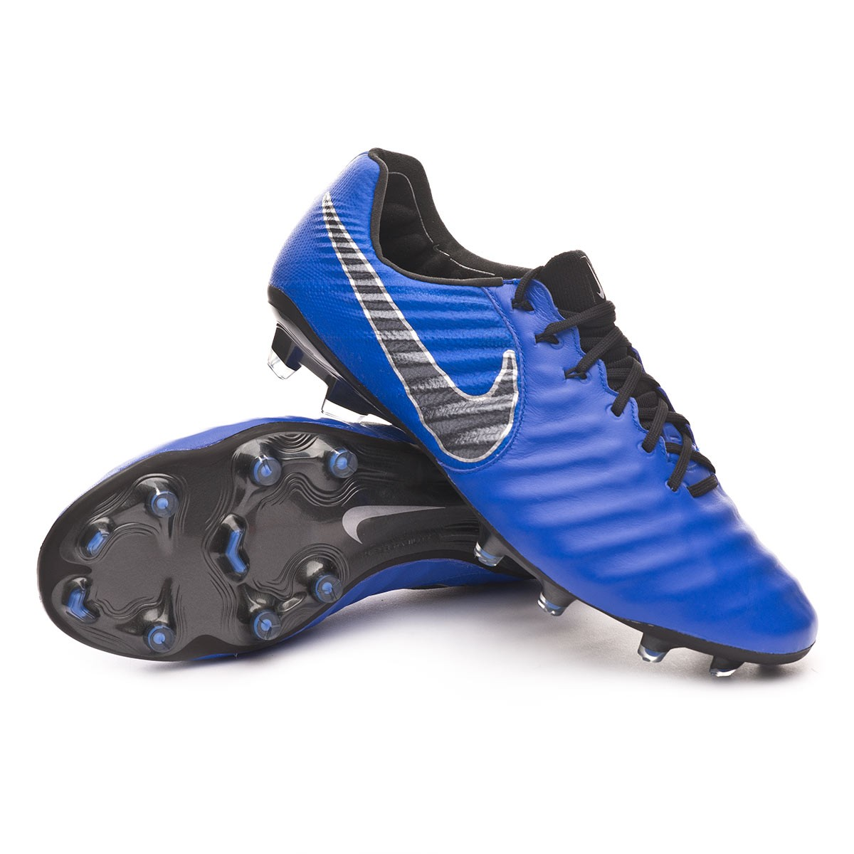 interior superstición intervalo  Football Boots Nike Tiempo Legend VII Elite FG Racer blue-Black-Metallic  silver - Football store Fútbol Emotion
