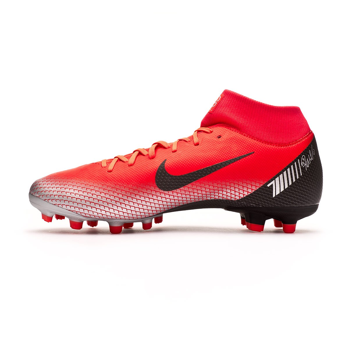 e27ea08b8d9 Scarpe Nike Mercurial Superfly VI Academy CR7 MG Bright crimson-Black-Chrome-Dark  grey - Negozio di calcio Fútbol Emotion