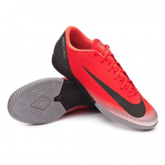 Futsal Boot  Nike Mercurial VaporX XII Academy CR7 IC Bright crimson-Black-Chrome-Dark grey