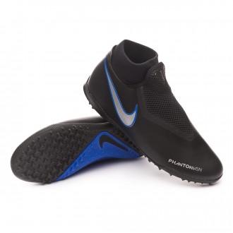 Zapatilla  Nike Phantom Vision Academy DF Turf Black-Metallic silver-Racer blue