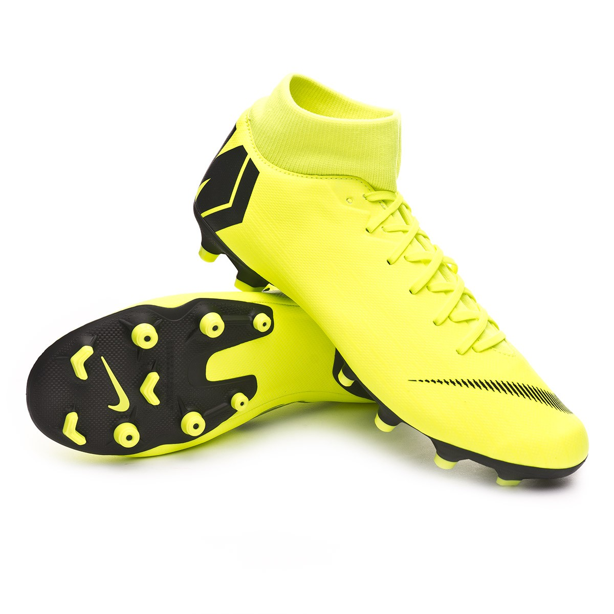 check-out 8fb11 4244a Bota Mercurial Superfly VI Academy MG Volt-Black