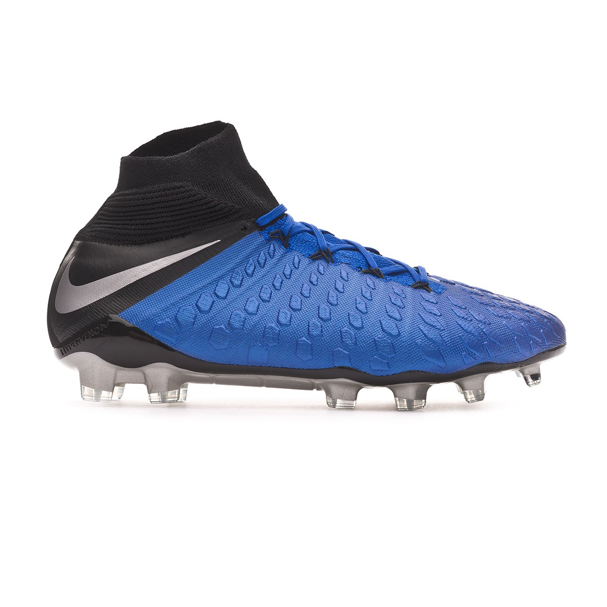 hot sale online 1ca4f 964ee Bota Hypervenom Phantom III Elite DF FG Racer blue-Metallic  silver-Black-Volt