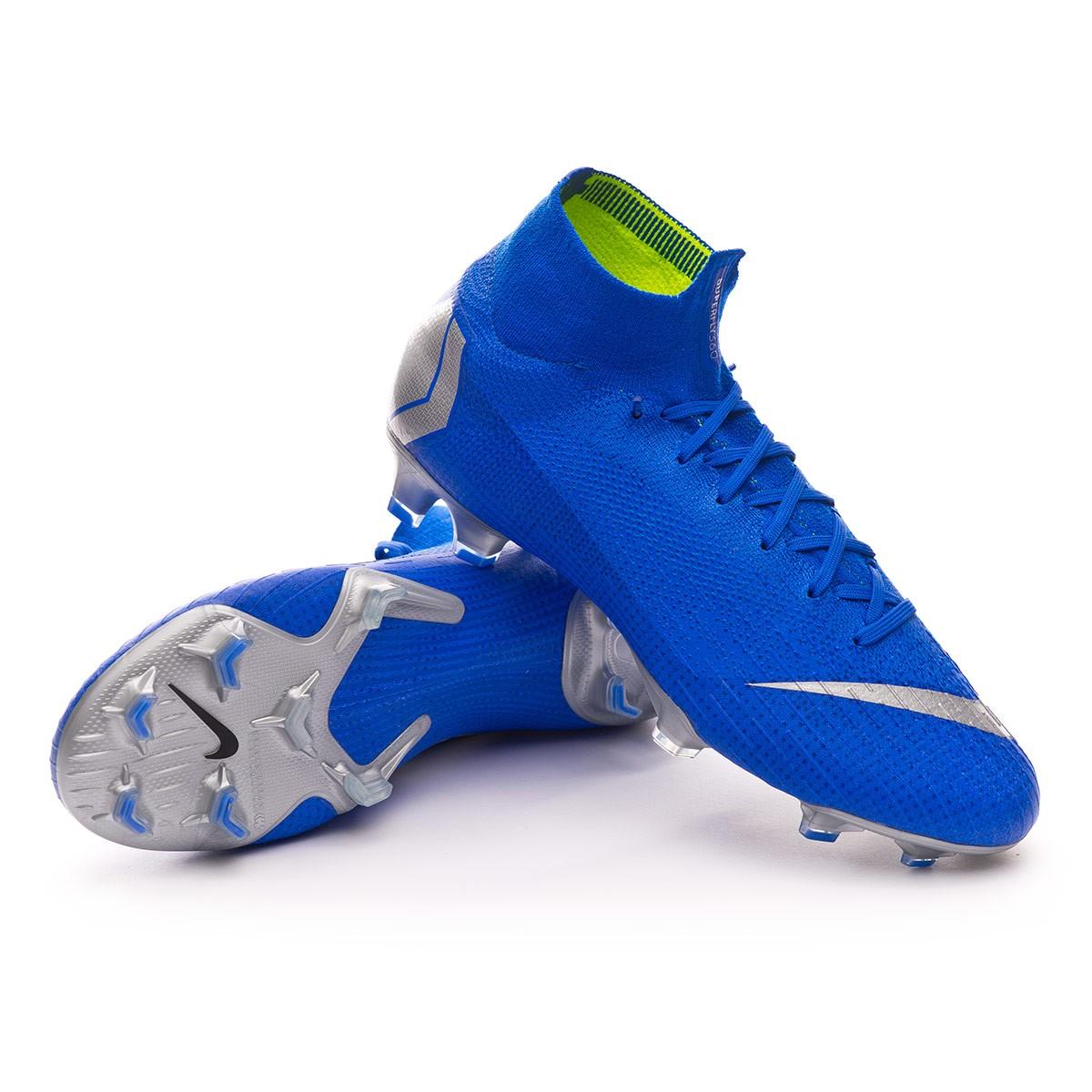 b4c968347 Football Boots Nike Mercurial Superfly VI Elite FG Racer blue-Matallic  silver-Black - Football store Fútbol Emotion
