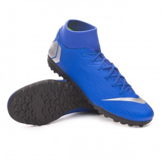 Football Boot  Nike Mercurial SuperflyX VI Academy Turf Racer blue-Metallic silver-Black-Volt