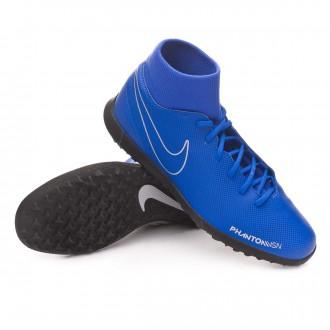 Football Boot  Nike Phantom Vision Club DF Turf Racer blue-Black-Metallic silver-Volt