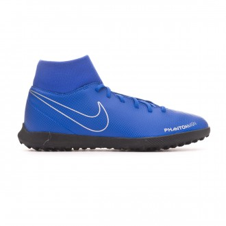 Zapatilla  Nike Phantom Vision Club DF Turf Racer blue-Black-Metallic silver-Volt
