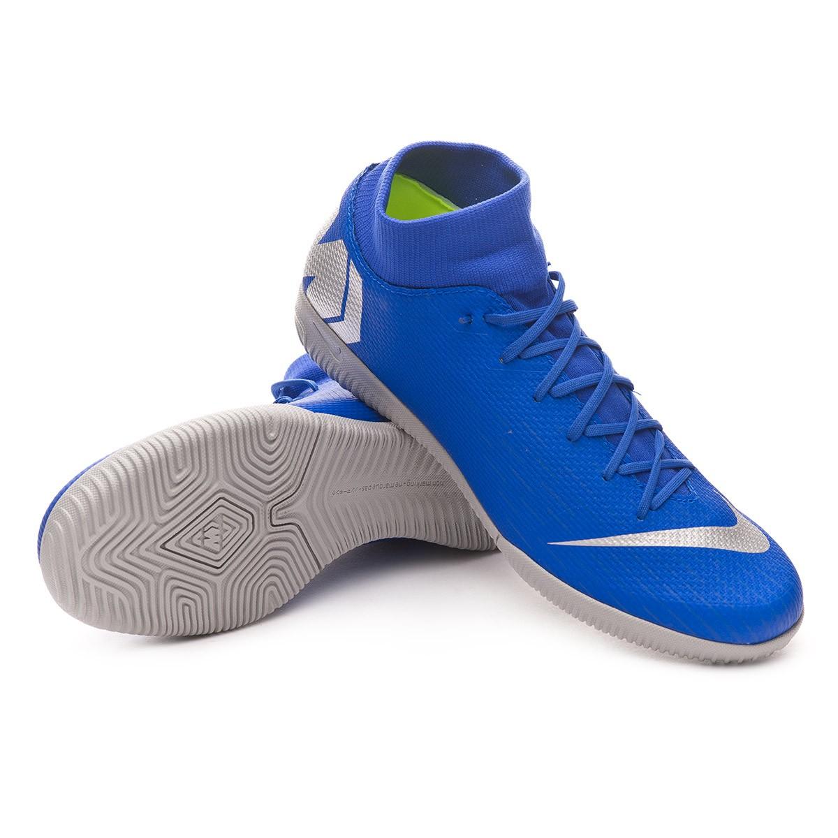 d4d0a664edf Futsal Boot Nike Mercurial SuperflyX VI Academy IC Racer blue-Metallic  silver-Black-Volt - Football store Fútbol Emotion