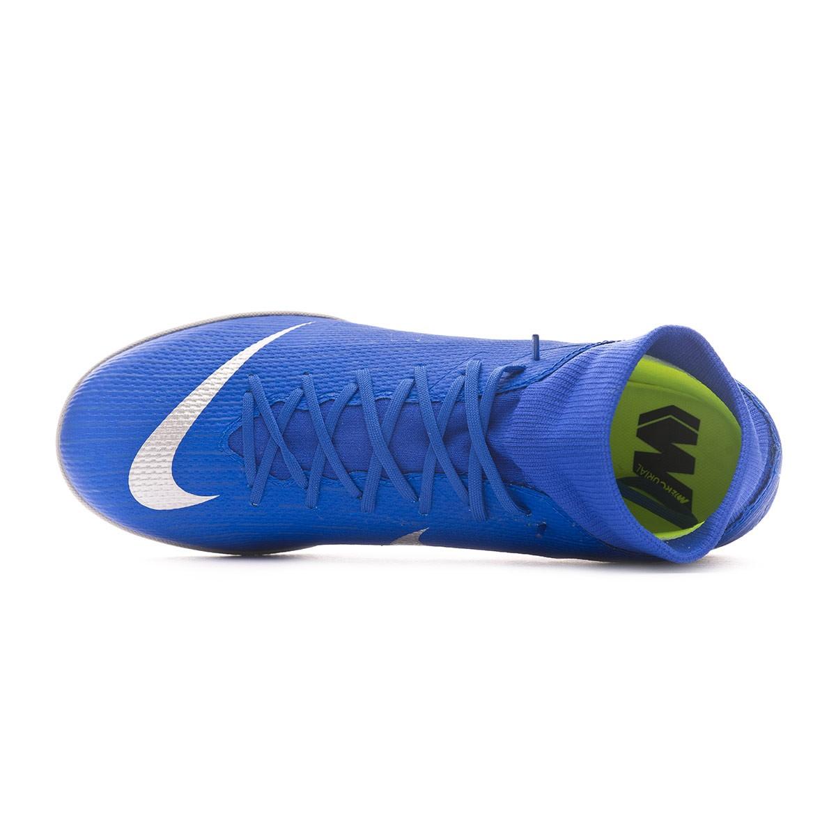daa4225855fa Futsal Boot Nike Mercurial SuperflyX VI Academy IC Racer blue-Metallic  silver-Black-Volt - Football store Fútbol Emotion