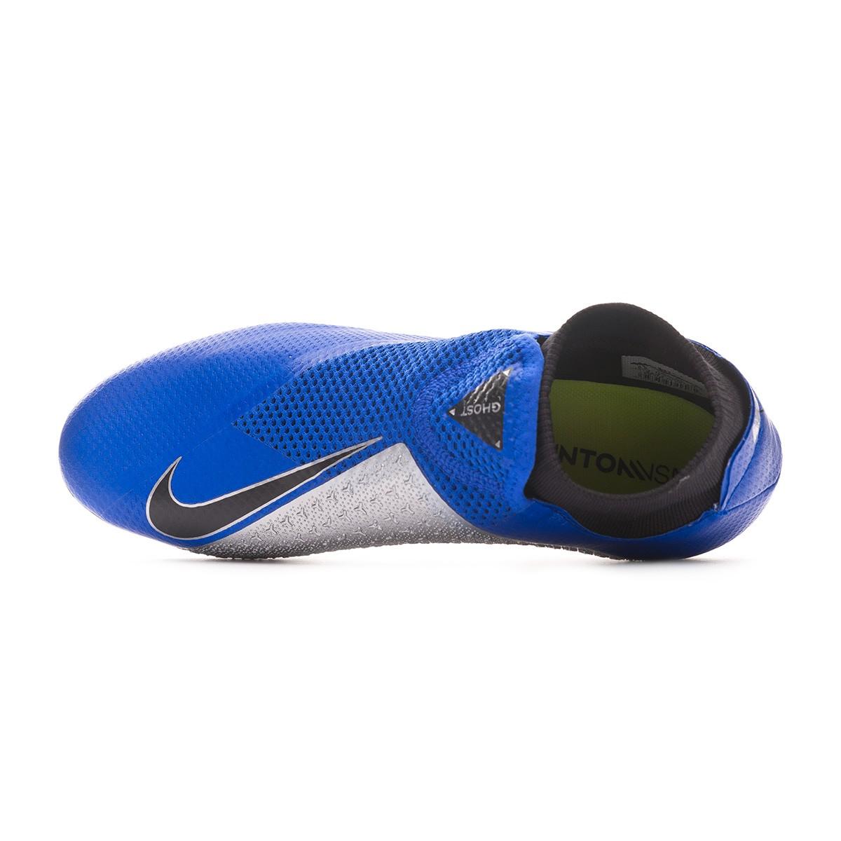 9dbe4371866 Football Boots Nike Phantom Vision Pro DF AG-Pro Racer blue-Black-Metallic  silver-Volt - Football store Fútbol Emotion