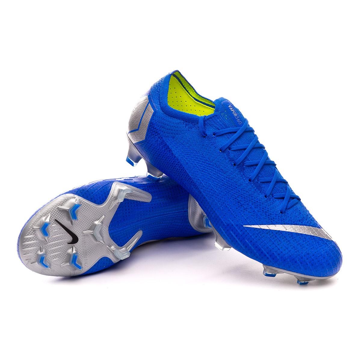 Paseo cuello Remontarse  Football Boots Nike Mercurial Vapor XII Elite FG Racer blue-Matallic  silver-Black - Football store Fútbol Emotion