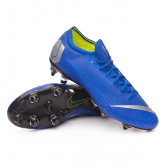 Scarpe   Nike Mercurial Vapor XII Elite Anti-Clog SG-Pro Racer blue-Matallic silver-Black