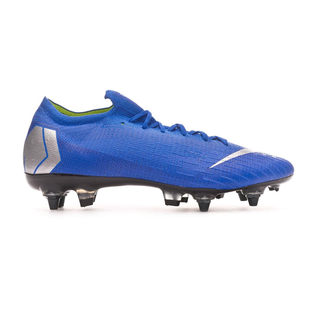 10edd2d2c22 Football Boots Nike Mercurial Vapor XII Elite Anti-Clog SG-Pro Racer  blue-Matallic silver-Black - Football store Fútbol Emotion