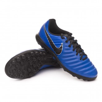 Football Boot  Nike Tiempo Lunar LegendX VII Pro Turf Racer blue-Black-Metallic silver